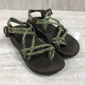 Chaco Green & Brown Z/Volv X2 Sandals